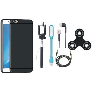 Samsung On7 Prime Back Cover with Spinner, Selfie Stick, Earphones, USB LED Light and AUX Cable