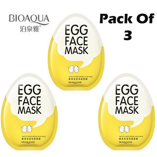 BIOAQUA Whitening Facial Egg Face Mask Anti Aging Moisturizing Shrinking Pores Wrapped Mask
