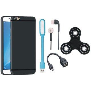 Vivo V5 Back Cover with Spinner, Earphones, USB LED Light and OTG Cable
