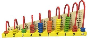 Sterling Wooden Calculation Shelf Abacus Double-Sided For Kids