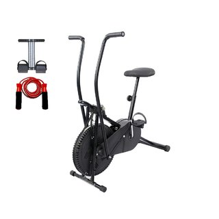 Lifeline Exercise Cycle 102 for Weight Loss at Home With Tummy Trimmer And Skipping Rope for Stomach Exercise