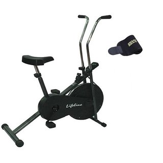 Lifeline Exercise Cycle 102 for Weight Loss at Home With Sweat Belt for Stomach Exercise