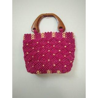 Handicrafts Multi Fabric Shoulder Bag Macrame Handbag