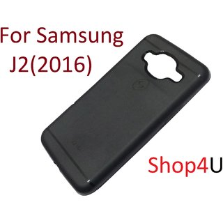 Samsung J2(2016) Black Ultra Protection Rubbrished Premium Back Cover