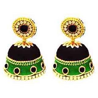 Handmade Silk Thread Jhumka Earrings