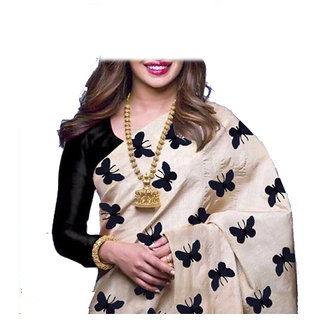 Chanderi Saree With Blouse - 5.25 Meter