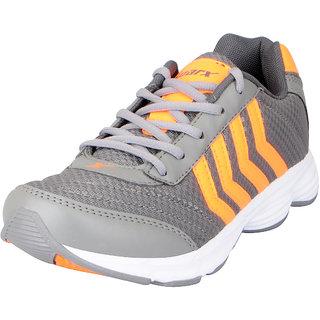 Sparx Mens Grey Orange Mesh Sports Running Shoes