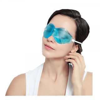 Hot/Cold Therapeutic Bead Pearl Relaxing Gel Eye Masks Soothing Gel Cooling Eye Sleeping Mask Pain Relief Mask Blue