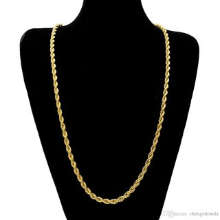 One Gram 22kt Gold Plated Rope Chain for men/women Daily Wear 28 Inch Long  -XC-70