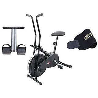 Lifeline Exercise Cycle 102 for Weight Loss at Home With Tummy Trimmer And Sweat Belt for Stomach Exercise