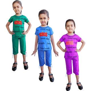 Jisha Fashion Top and Carpri Set (Weilebo) Pack of 3