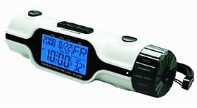 World Time Travel Alarm Clock With Calender Temperature  LED Torch