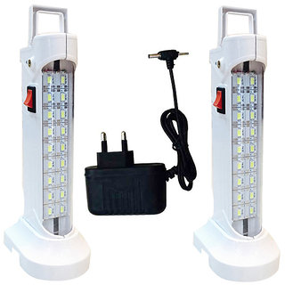 sahi  (578) Rechargeable Emergency light set of-2   with charger