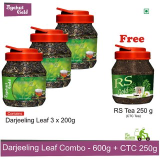 Byahut Gold - Darjeeling Leaf 600g with RS Tea 250g Free
