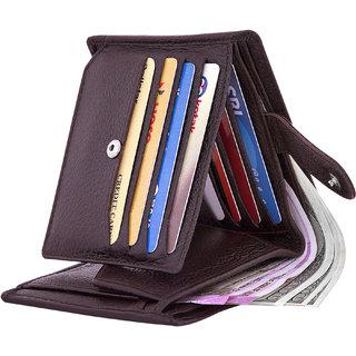 POLLSTAR Men's RFID Blocking High Quality Genuine Leather Purse with Gift Box (WL760BN)