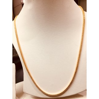 1cdf0cd6936 Buy Real look Gold plated chain 30 Inch long chain Long Lasting gold plating -XC40 Online - Get 62% Off