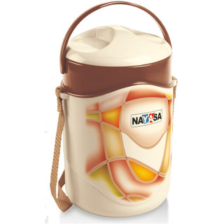 NAYASA TIFFIN SET-ZEAL 3 BROWN