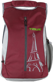Timus Class 19 Litres Red College Bag School Casual Backpack for Boys and Girls 19 L Backpack (Red)
