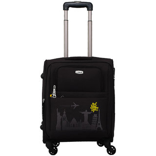 Timus Salsa Black 55 CM 4 Wheel Strolley Suitcase For Travel ( Cabin Luggage) Expandable  Cabin Luggage - 20 inch (Black)