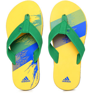 57cf3eb58 Buy Adidas Men Green Yellow Chesil Flip Flops Online - Get 66% Off