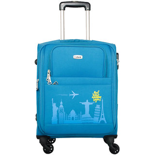 Timus Salsa Ocean Blue Cabin 55 Cm 4 Wheel Strolley Suitcase For Travel