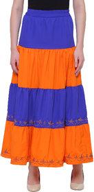Bluestone Women's  Multi Polyester SKIRT-(BLWB-202-2XL)