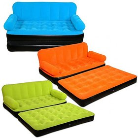 5 In 1 Air Sofa Bed Non Velvet Pvc Coloured Recliner