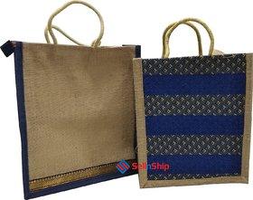 SellnShip Eco-friendly Jute Bag Combo  Set Of One Plain