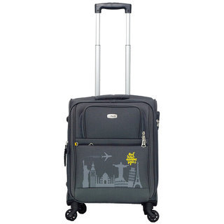 Timus Salsa Graphite Cabin 55 Cm 4 Wheel Strolley Suitcase For Travel