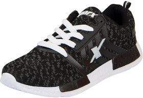 Sparx Black White Women's Sports Running Shoes