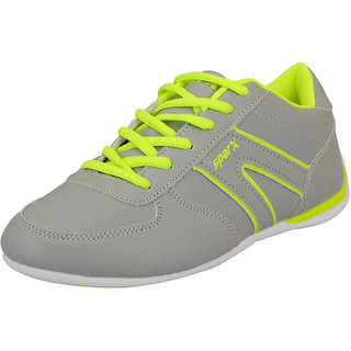 Sparx Grey Green Womens Sports Running Shoes