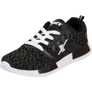 Sparx Black White Womens Sports Running Shoes