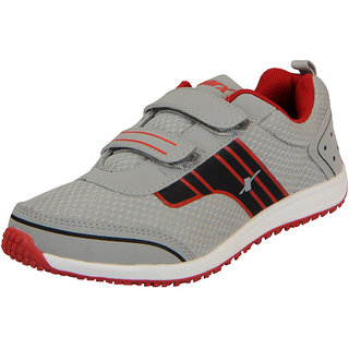 Sparx Grey Red Womens Sports Running Shoes
