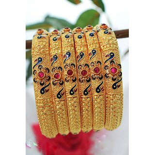 Gahane Stylish Peacock 1.5Grams Gold Plated Bangle For Women