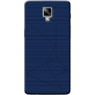 Cellmate Flexible back Cover For OnePlus 3 - Blue