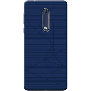 Cellmate Flexible back Cover For Nokia 5 - Blue