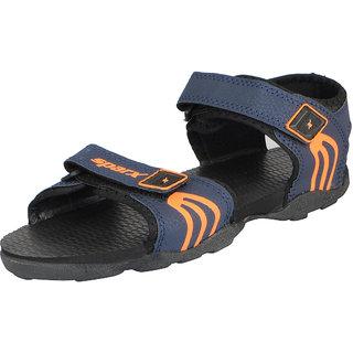 Sparx Men's Blue Orange Outdoor Sandals