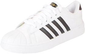 Sparx Men's White Black Trendy Sneakers