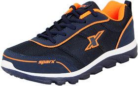Sparx Navy Orange Men's Sports Running Shoes