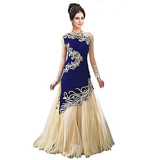 Florence woman's Georgette Embroidered Semi-stitched Gown