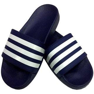 Pampys Angel Classy Slipper Slides for Men-Blue