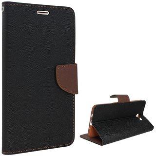 Samsung J7 PrimeFlipCover/ Premium Luxury Slim Artificial Leather Case for Samsung J7 Prime / Wallet Case for Samsung J7 Prime - Black/Brown By Vinnx