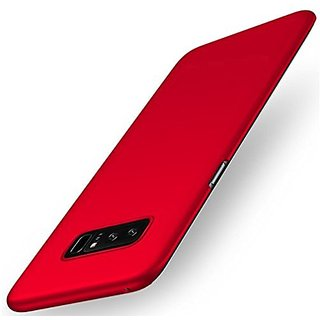 Samsung Note 8 Back Cover case with Free Card Reader Combo Offer By Vinnx - Red