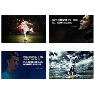 Cristiano Ronaldo Combo sticker Set of Four stickers | Ronaldo sticker | Cristiano Ronaldo sticker for room