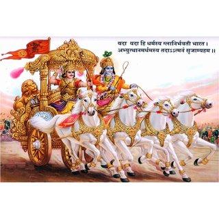 Lord Krishna Mahabharat sticker for Room