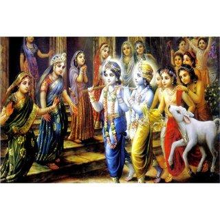 Bal Shri Krishna with Shri Balaram sticker for Room