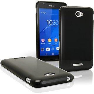 Premium Matte TPU Silicon Cover Case for Sony Xperia E4 amp E4 Dual E2115 - Black