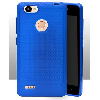 info for 0f6ea 75e1a ECellStreet Soft Dotted Texture Back Case Cover For Itel Wish A41 Plus /  Wish A41 / A41 + - Blue