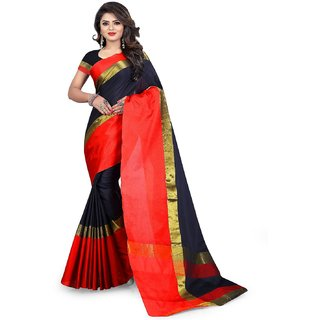 668a31e6d2 Buy Jay Fashion woven emblished daily wear cotton silk saree with blouse  Online - Get 60% Off