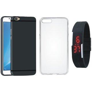 Motorola Moto E4 Silicon Anti Slip Back Cover with Silicon Back Cover, Digital Watch